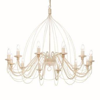 Ideal Lux CORTE Lámpara de araña Blanca, 12 luces
