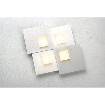 Bopp PIXEL Lámpara de Techo LED Blanca, 4 luces