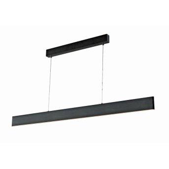 WOFI SILEAS Lámpara Colgante LED Negro, 1 luz, Mando a distancia