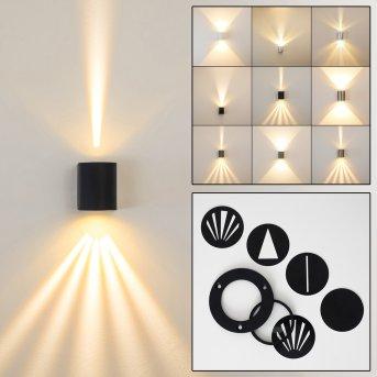 Mora Aplique para exterior LED Negro, 2 luces
