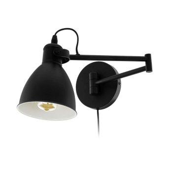 Eglo SAN PERI Aplique Negro, 1 luz