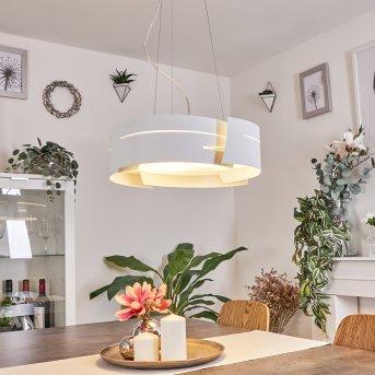 Novara Lámpara suspendida Blanca, 3 luces
