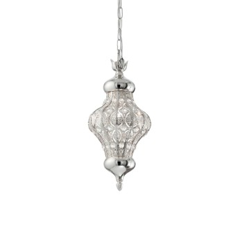 Ideal Lux NAWA Lámpara Colgante Plata, 1 luz