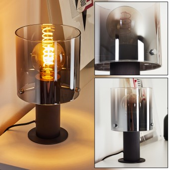 Wichita Lámpara de mesa Negro, 1 luz