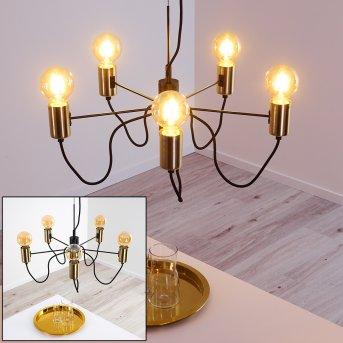 Gnarp Lámpara Colgante Negro-dorado, 5 luces