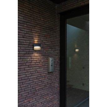 Lutec Lotus Aplique para exterior LED Antracita, 1 luz
