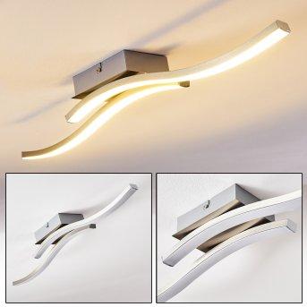 Letala Lámpara de Techo LED Níquel-mate, Cromo, 2 luces