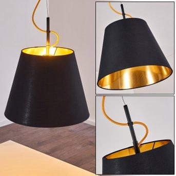 Saillon Lámpara Colgante Negro, 1 luz