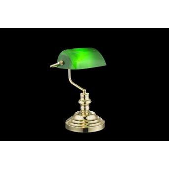 Globo Lámpara de mesa Verde, 1 luz