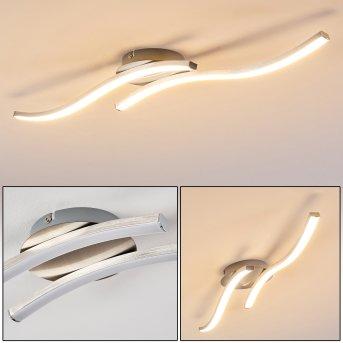 Nendaz Lámpara de Techo LED Níquel-mate, 2 luces