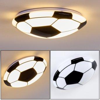Sakka Lámpara de Techo LED Negro, Blanca, 1 luz