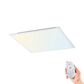 Leuchten-Direkt FLAT Lámpara de techo LED Blanca, 1 luz, Mando a distancia