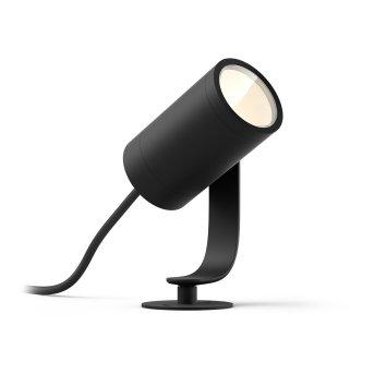 Philips Hue Ambiance White & Color WACA Lily Foco, Set por la extensión LED Negro, 1 luz, Cambia de color