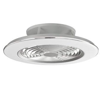 Ventilador de techo Mantra ALISIO LED Cromo, Gris, 1 luz, Mando a distancia