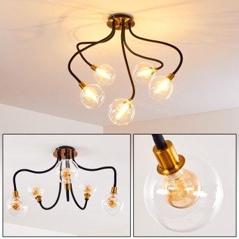 Lámpara de Techo Hovslund LED Negro, dorado, 5 luces