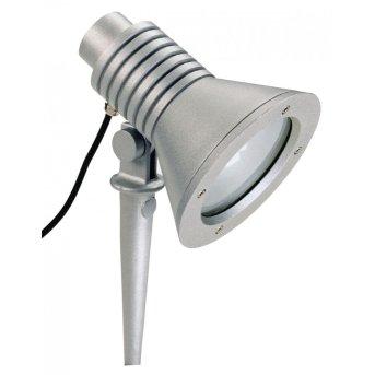 Albert 2183 Foco proyector jardin Plata, 1 luz