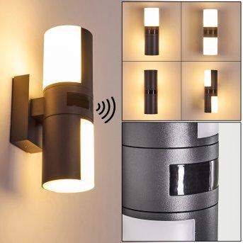 Aplique para exterior Baulund LED Antracita, 1 luz, Sensor de movimiento