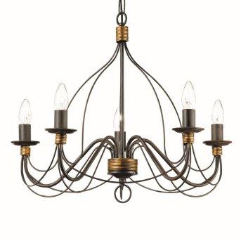 Ideal Lux CORTE Lámpara de araña Color óxido, 5 luces