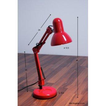 Globo Famous Lámpara de escritorio Rojo, 1 luz