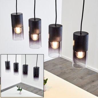 Kuparuk Lámpara Colgante Negro, 4 luces
