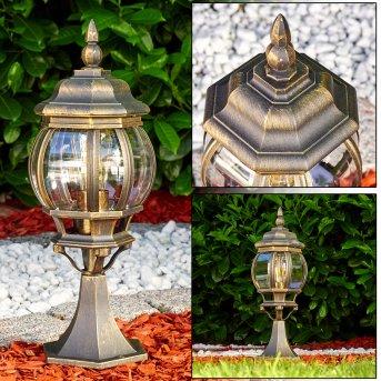 Lentua Poste de Jardín Marrón, oro, 1 luz