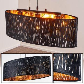 Liared Lámpara Colgante Negro, 3 luces