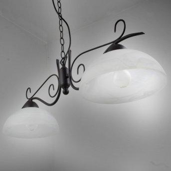 Reality Lámpara colgante Color óxido, 2 luces