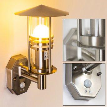 Forli Aplique Acero inoxidable, 1 luz, Sensor de movimiento