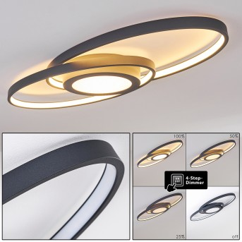 Chunky Lámpara de Techo LED Gris, 1 luz