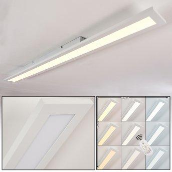 Ailik Lámpara de Techo LED Blanca, 1 luz, Mando a distancia