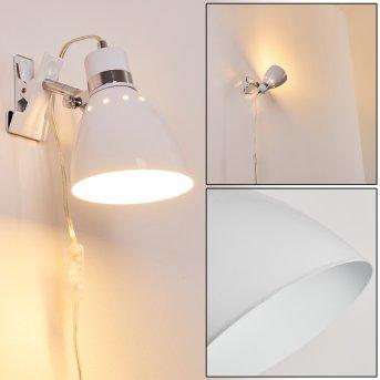 Stranderott Lámpara con pinza Blanca, 1 luz