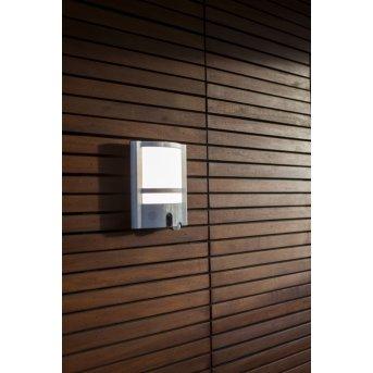 Aplique para exterior Lutec VESTA CAM LED Acero inoxidable, 1 luz, Sensor de movimiento