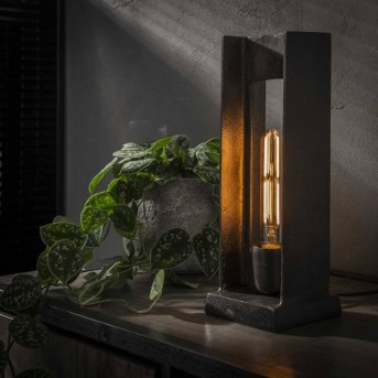 UGCHELEN Lámpara de Mesa Níquel-mate, Negro, 1 luz