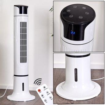 Urbino Tower Ventilador de pie Negro, Blanca, Mando a distancia
