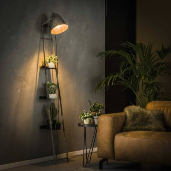 LISSE Lámpara por estante de pared Negro, Gris, 1 luz