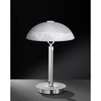 Wofi BRISTOL Lámpara de mesa Níquel-mate, 2 luces