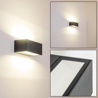 GEMINI Aplique para Exterior LED Antracita, 1 luz