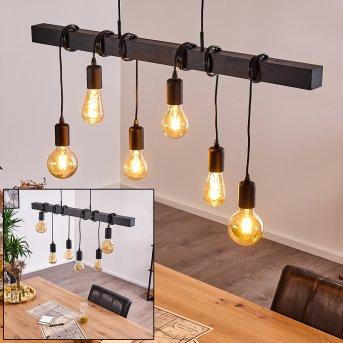 Barbengo Lámpara Colgante Negro, 6 luces