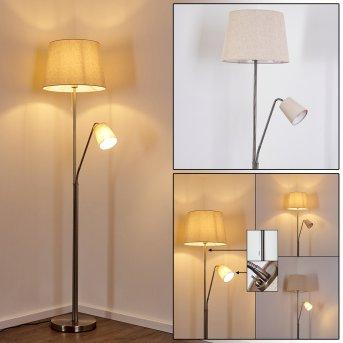 Gunstock Lámpara de Pie Níquel brillo, 2 luces