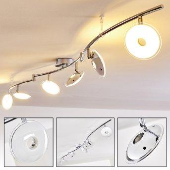 Ibex Lámpara de Techo LED Cromo, 6 luces