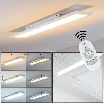 Salmi Lámpara de Techo LED Blanca, 1 luz, Mando a distancia
