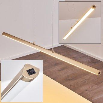 Wila Lámpara Colgante LED Níquel-mate, 1 luz