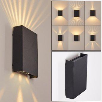 Benin Aplique para exterior LED Negro, 2 luces