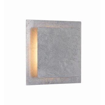 Aplique WOFI FEY LED Plata, 1 luz