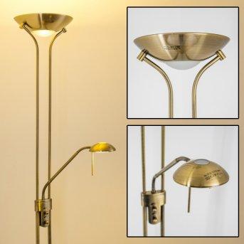 Rom Lámpara de pie LED Latón antiguo, 2 luces