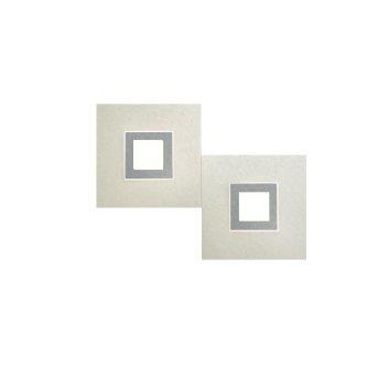 Grossmann Karree Aplique LED Titanio, 2 luces