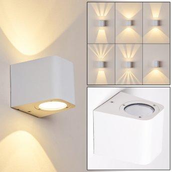 Maputo Aplique para exterior LED Blanca, 2 luces