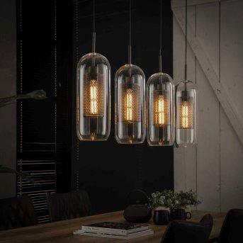 Hoefhaven Lámpara Colgante Galvanizado, 4 luces