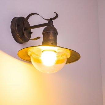 Broni Aplique para exterior Marrón, oro, 1 luz