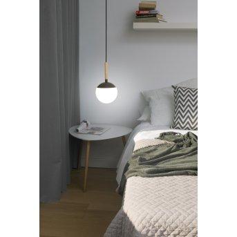 Faro Barcelona Mine Lámpara Colgante Gris, Madera oscura, 1 luz